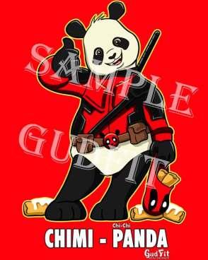 ChiChi Cosplay Panda as Deadpool.