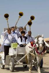 Fanfare at the annual horse riding show