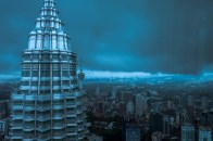KL Towers in Blue