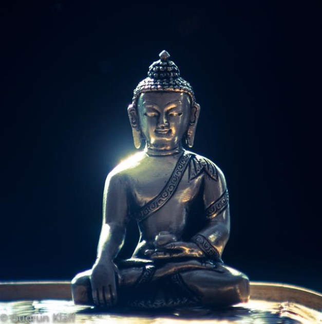 My little silver buddha