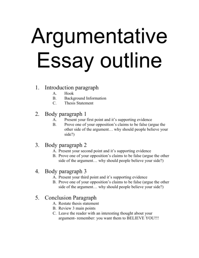 How to Write an Argumentative Essay (Outline, Samples and Guide)