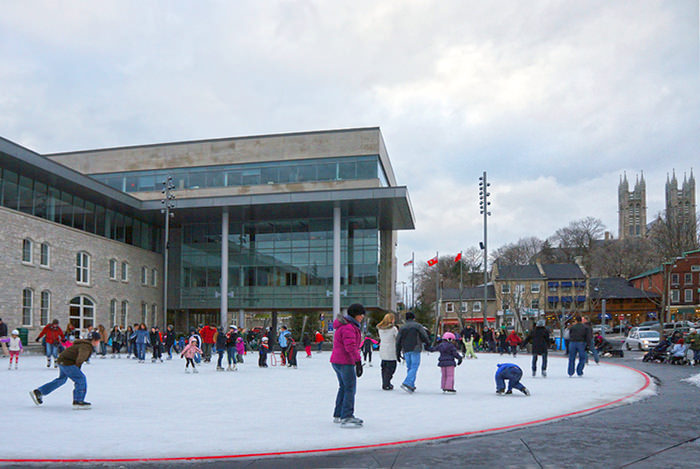 Skating in Market Square