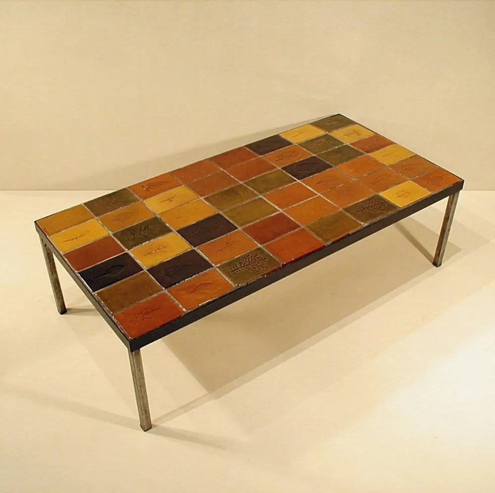 ceramic coffee table by roger capron from the herbiers series