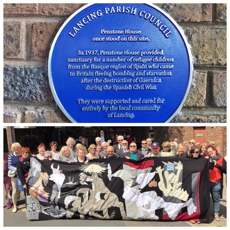 Blue plaque unveiled, Lancing. 2017. Courtesy of Sophie Cook.