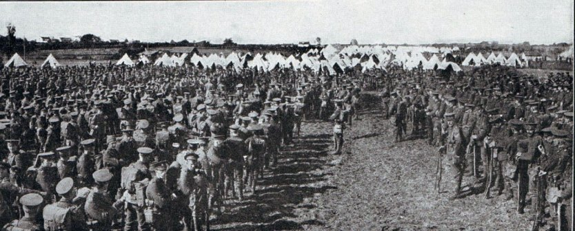 British Infantry Moving Up To Mons August 1914