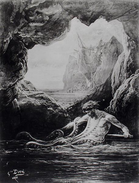 Gilliatt_struggles_with_the_giant_octopus__Les_Travailleurs_de_la_Mer_Illustration02