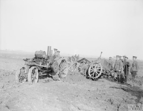 Reclaiming the battleground. Tractor-ploughing at the Agriculture Directorate farm at Roye, 9 March 1918