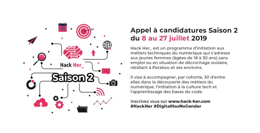 Hack Her_ Saison 2, programme entrepreneuriat numérique 100% féminin