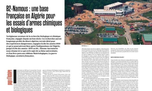 B2-Namous: une base française en Algérie pour les essais d'armes chimiques et biologiques