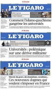 Acrimed - Une du Figaro - islamo-gauchisme à l'université
