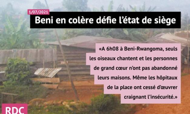 RDC: Beni en colère défie l'état de siège