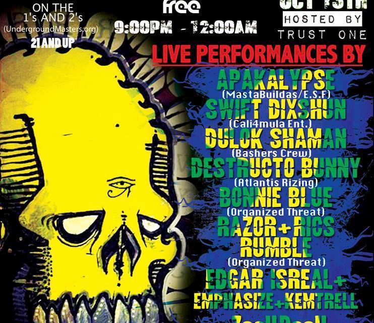 FOR THE LOVE OF HIP HOP , OCT 13TH AT THE KAVA LOUNGE , SAN DIEGO ,CA