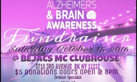 KeepinG It Real BK : Alzheimer's & Brain Awareness Fundraiser OCT 15TH IN SUNSET PARK, BROOKLYN