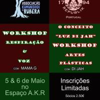 """Workshops """"Respiração e Voz"""" & """"Conceito Luz Di Jah"""" MAY 5-6 GUERRILLA REPUBLIK PORTUGAL"""