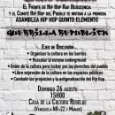 ASAMBLEA HIP HOP QUINTO ELEMENTO : GUERRILLA REPUBLIK ECUADOR AUG 26