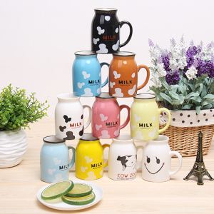Zakka-estilo-japonês-de-leite-dos-desenhos-animados-padrões-gráficos-xícara-de-cerâmica-caneca-copo-do
