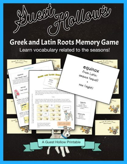 Greek and Latin Roots Memory Game