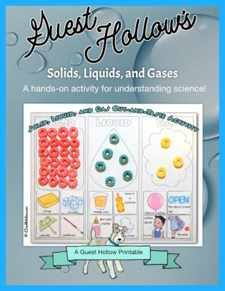 Solids, Liquids, and Gases Printable Activity