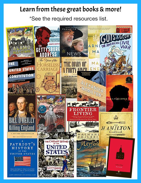 American History Curriculum Books