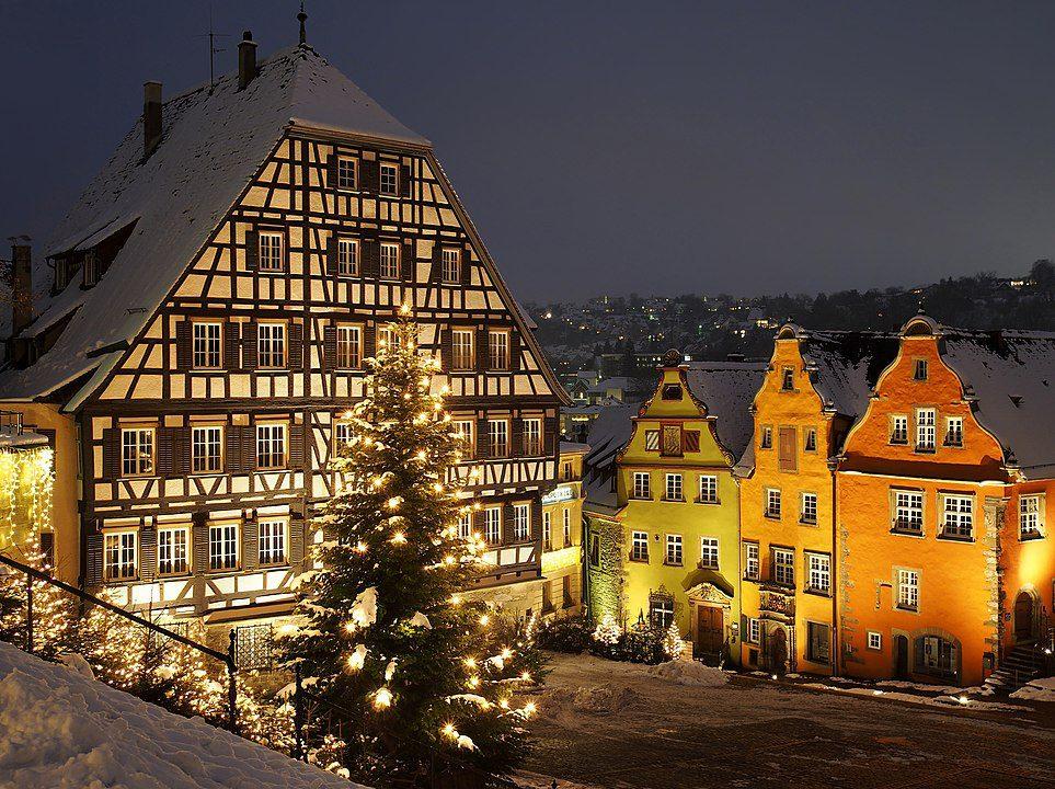 Schwäbisch Hall in winter -  Baden-Württemberg, Germany