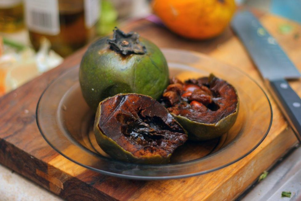 Sapote is a soft, edible fruit
