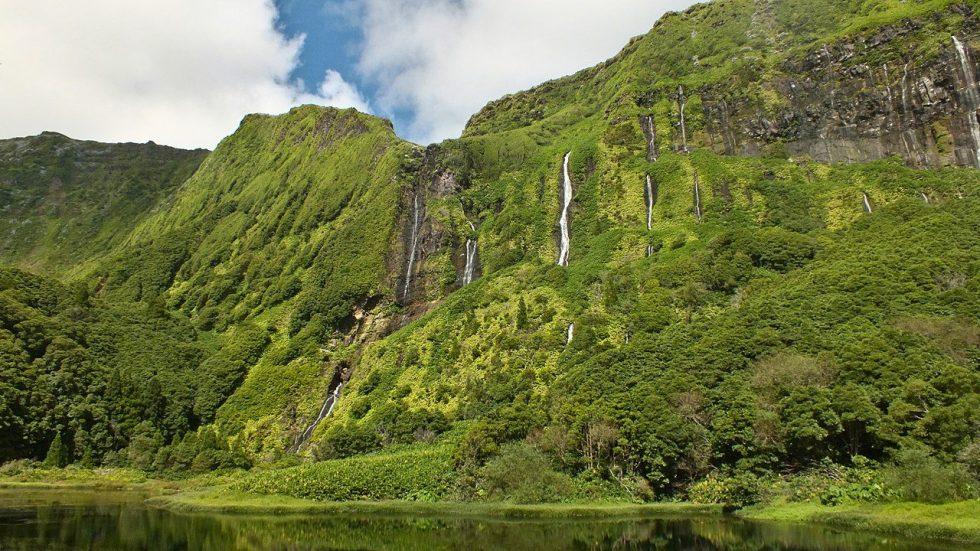 Ribeira Grande falls, Flores Island, Azores