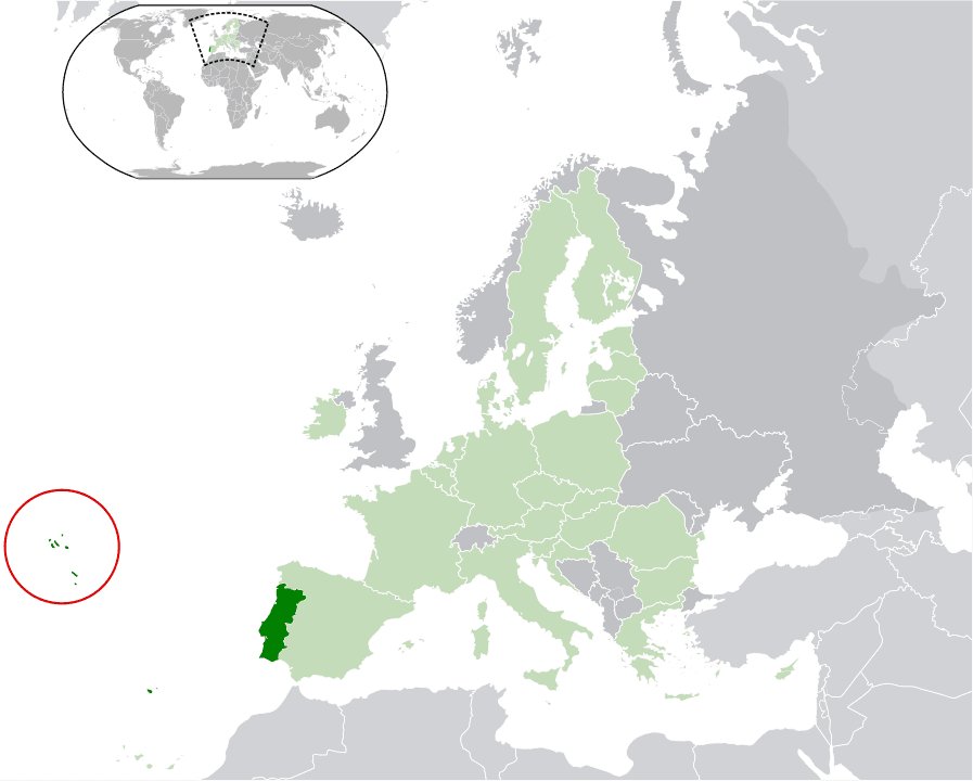 The Azores belong to Portugal.