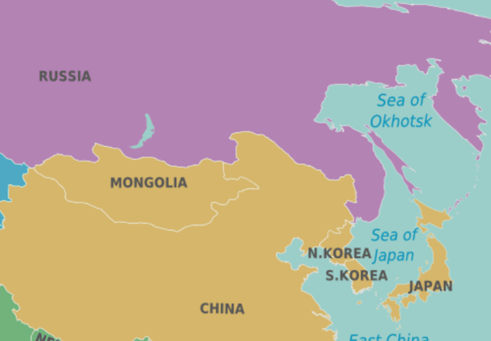 The Asian side of Russia
