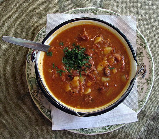 Goulash is a stew with paprika.