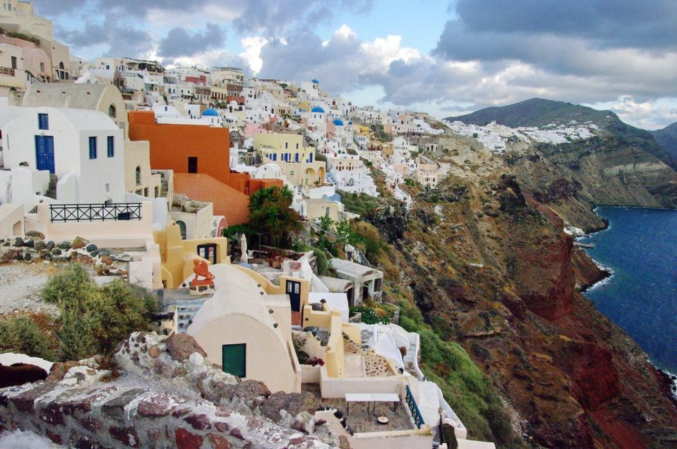 Santorini is a Greek island in the Aegean Sea and home to one of the largest volcanic eruptions in history, which led to the collapse of the ancient Minoan civilization.