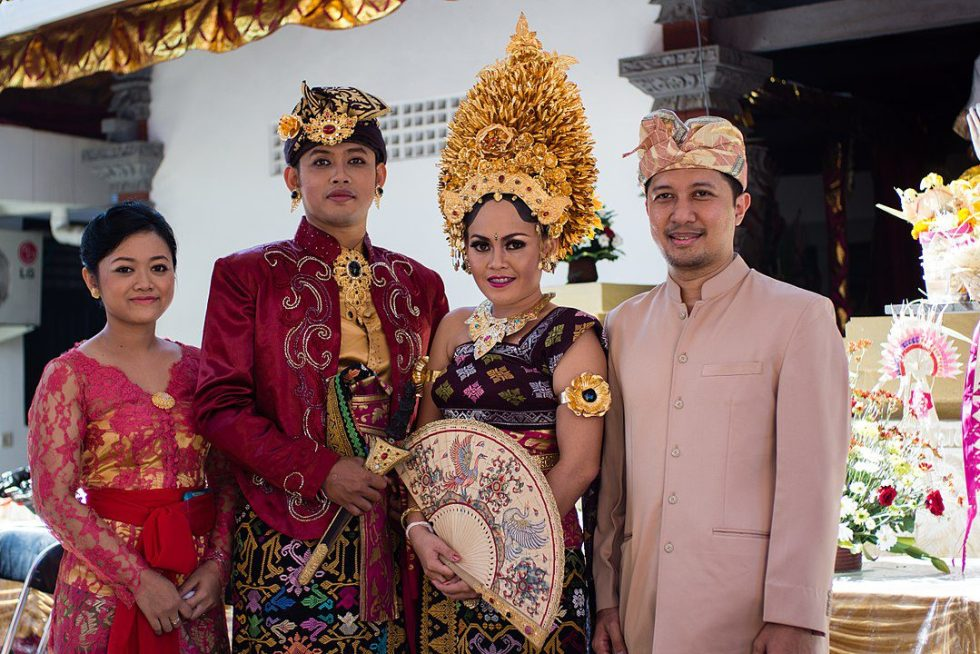A Balinese couple during their wedding