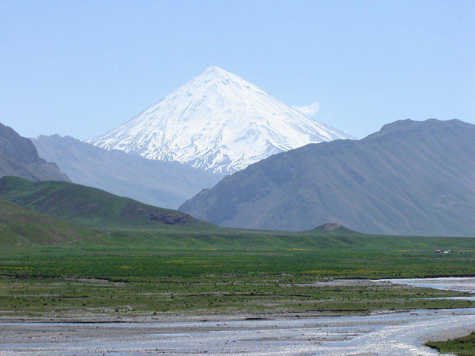 Mount Damavand, Iran's highest mountain, is located in the Alborz mountain range.