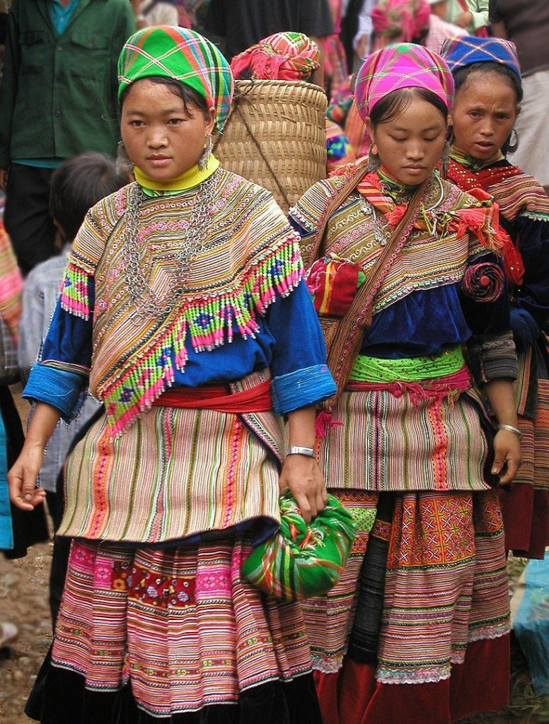 Hmong women at the market