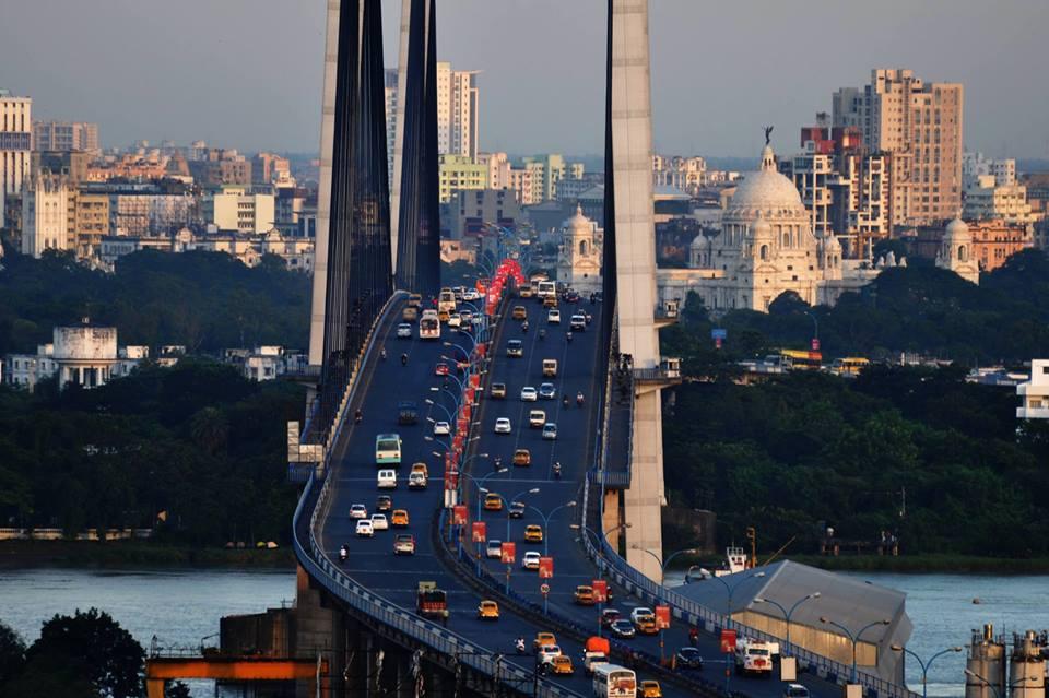 City Skyline from Hoogly Bridge, Kolkata