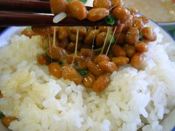 Nattō is a traditional Japanese food made from fermented soybeans.