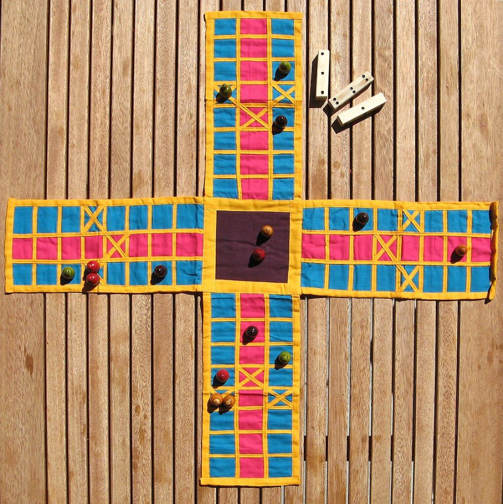 Pachisi is a game that originated in India. Parcheeesi is an American adaptation of this game.