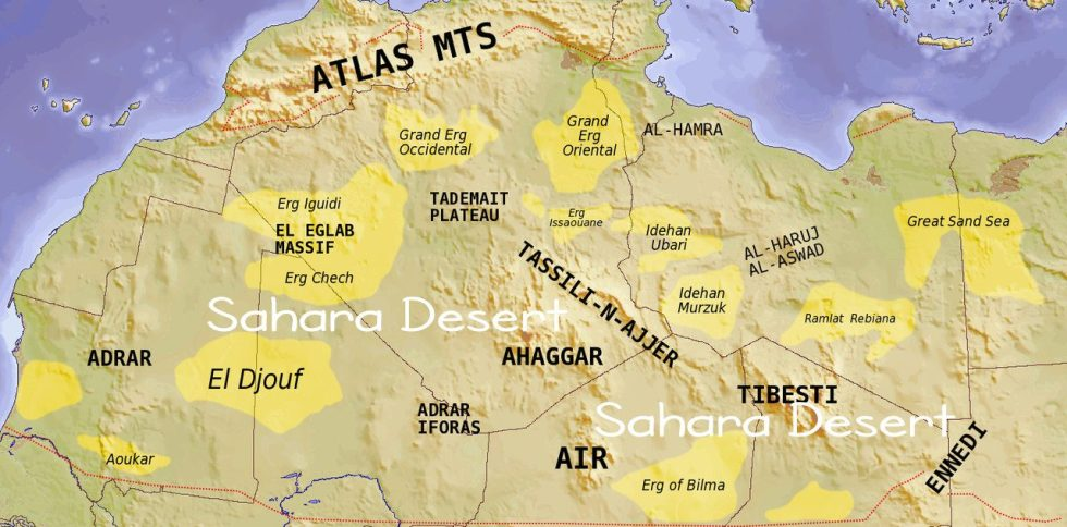 Sahara Desert ec0-regions
