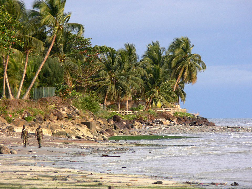 A beach in Gabon