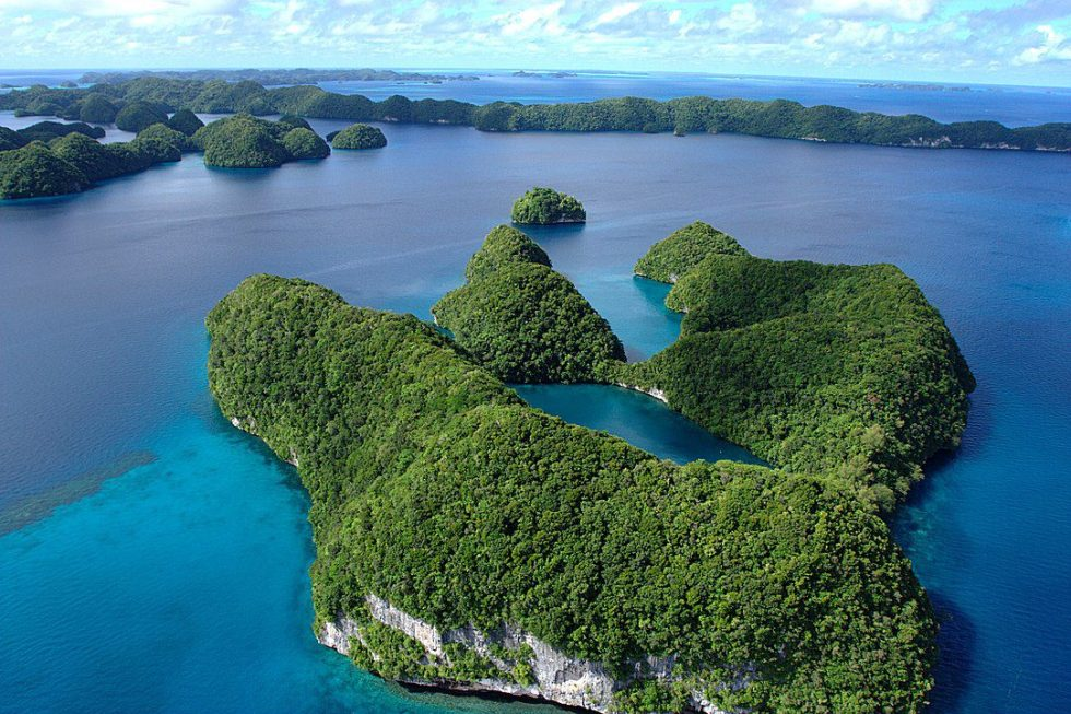 Palau limestone islands