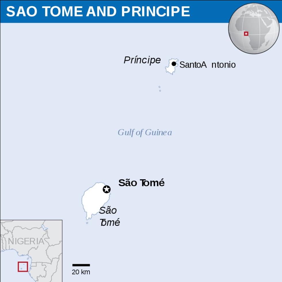 São Tomé and Príncipe map
