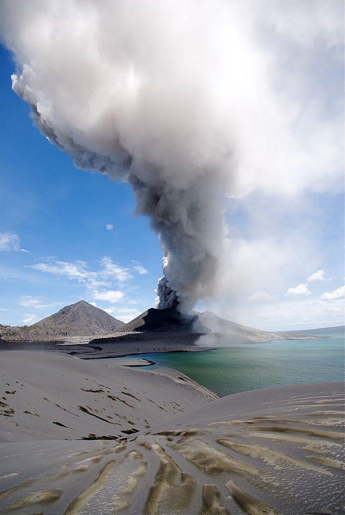 Mt. Tavurvur erupting