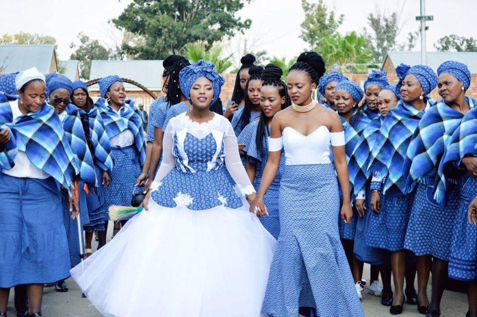 Tswana Bride in traditional attire