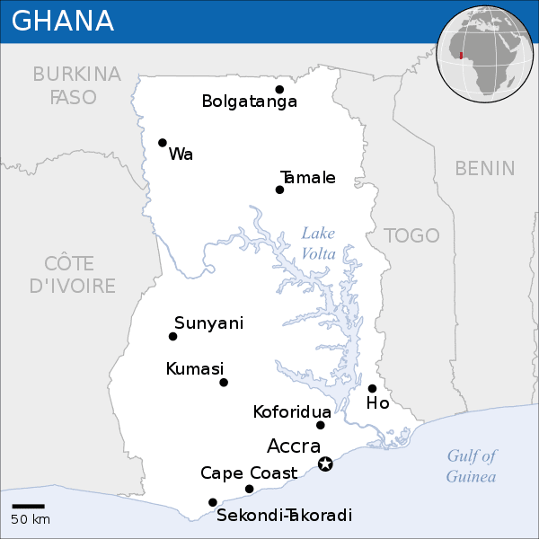 Ghana was known as the Gold Coast.