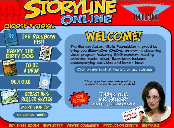 Storyline Online - free streaming books for children