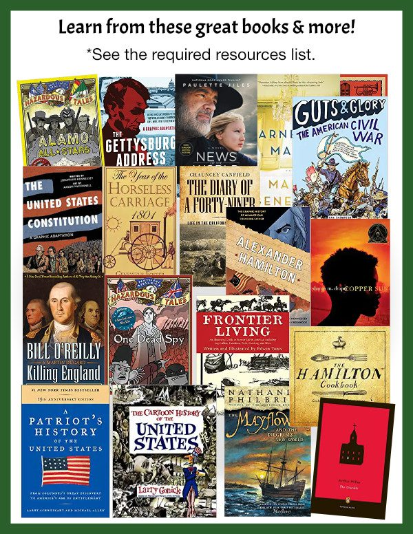 Homeschool American history books