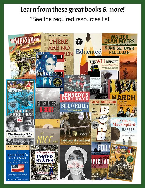 Homeschool American history books