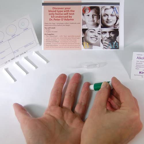 Blood Type Eldoncard Typing Test Kit