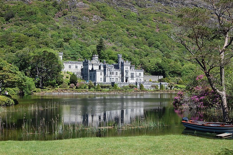 Kylemore Abbey in County Galway in the Connemara region of the Republic