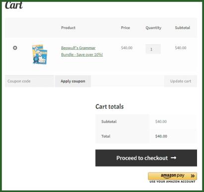 Cart screenshot