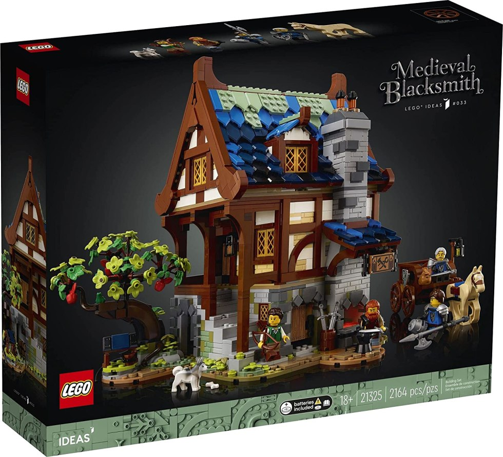 LEGO Ideas Medieval Blacksmith 21325 Building Kit; Impressive Build-and-Display Model for Adults